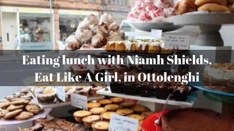 Eating lunch with Niamh Shields