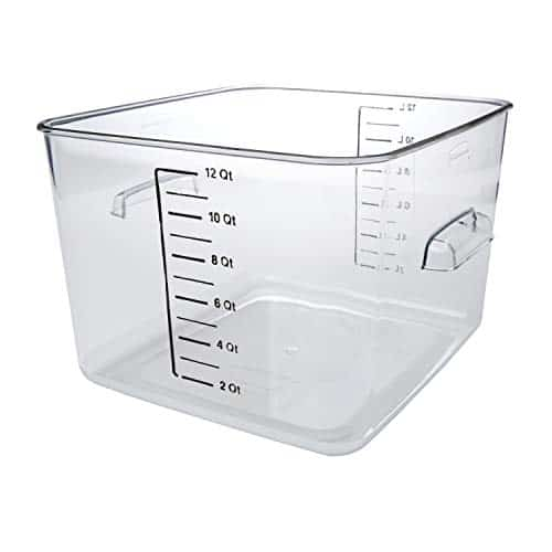 Rubbermaid Commercial Products Plastic Space Saving Square Food Storage Container