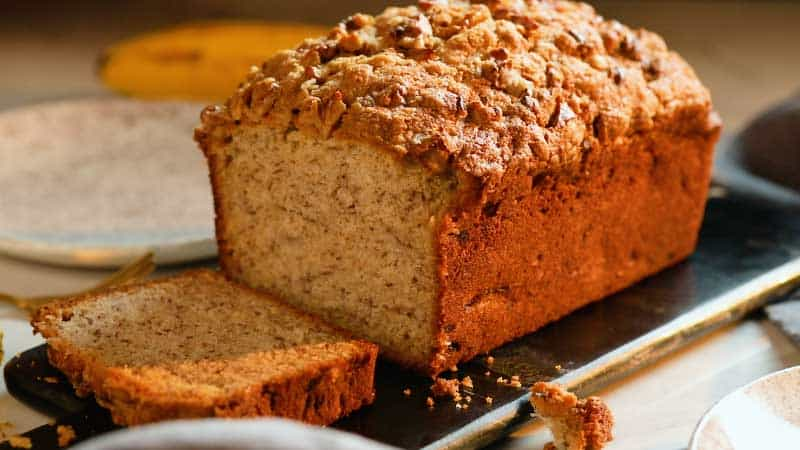 Whole Wheat Banana Bread with Crumb Topping