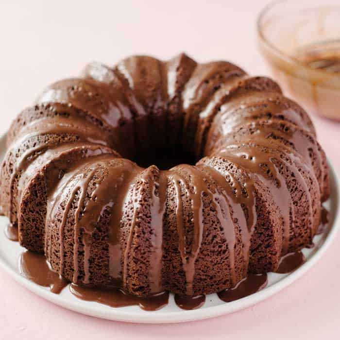 Baking the Bundt Cake.