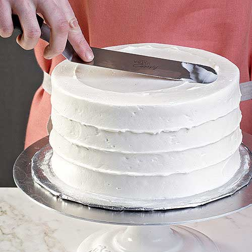 frosting the cake