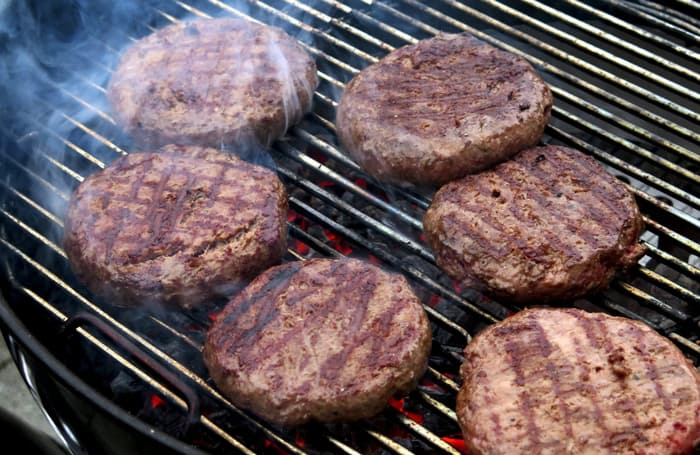 burgers from falling apart on griddle