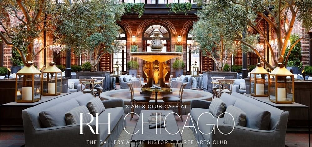 This is a screenshot of the 3 Arts Club Cafe website.