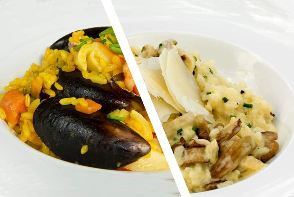 Paella vs. Risotto.
