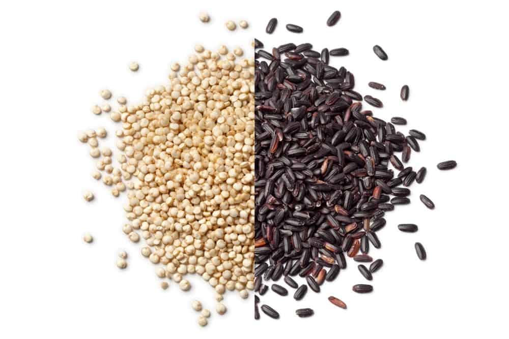 A Quinoa and Black Rice comparison.