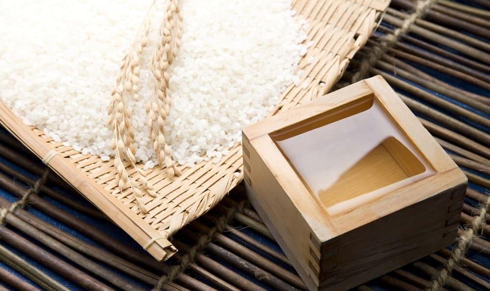 Short-grain Japanese rice.
