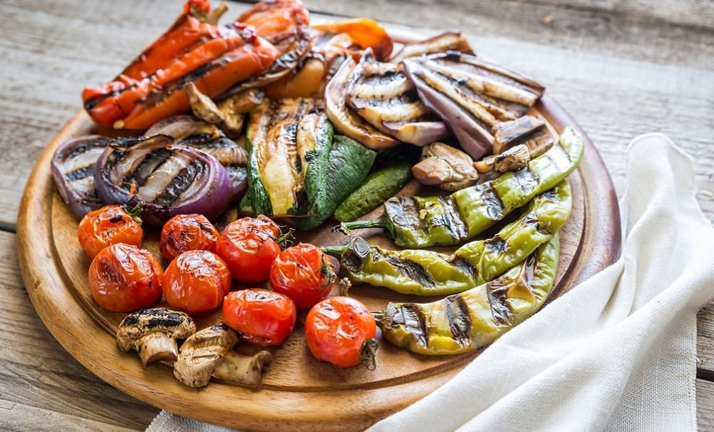 An image of grilled vegetables.